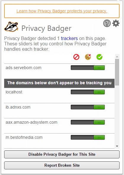 Privacy Badger App