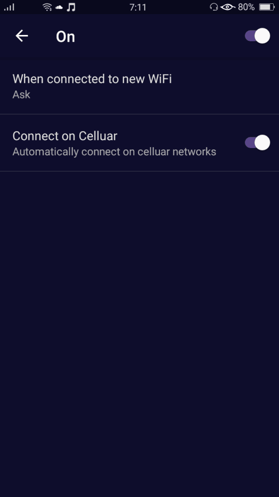 After the secure Wifi flow feature
