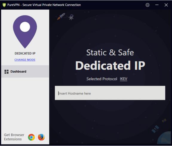 Old dedicated IP interface