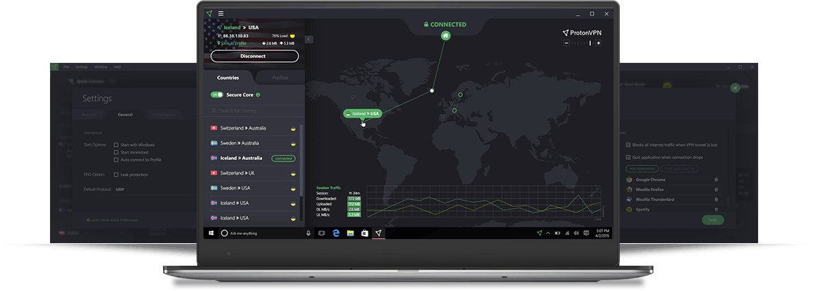 The ProtonVPN Software