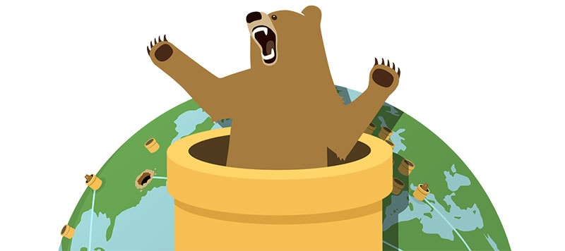 TunnelBear Servers Worldmap