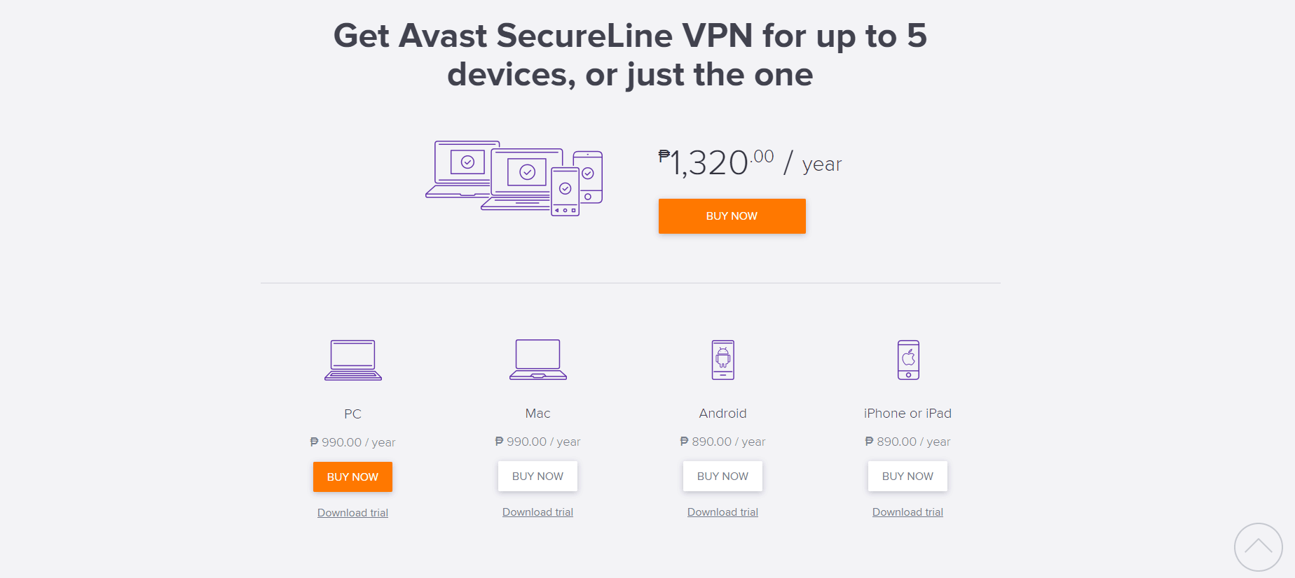 Avast Pricing