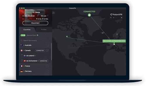 ProtonVPN Review Software Screenshot