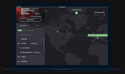 ProtonVPN Review Software Screenshot