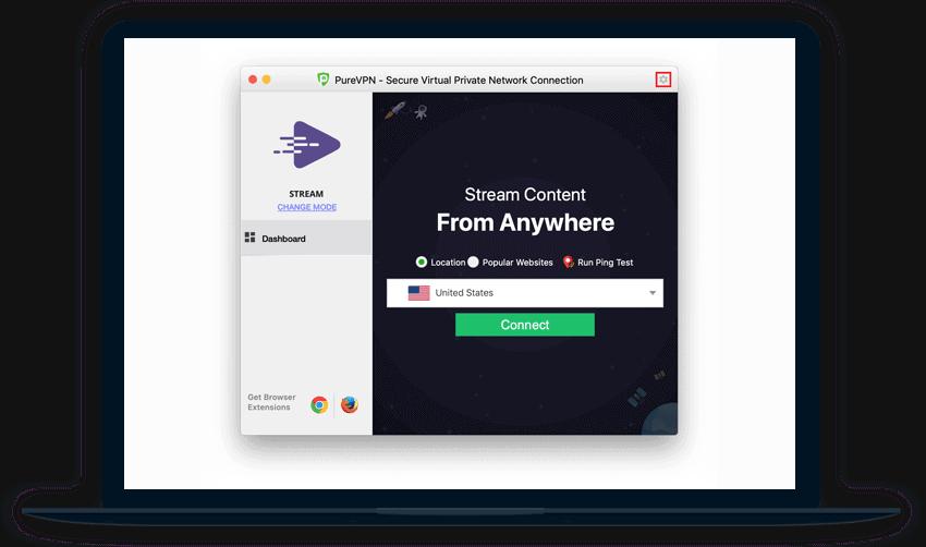 PureVPN Review Software Screenshot